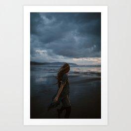 Running Away From the Storm Art Print
