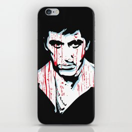 Scarface movie portrait iPhone Skin