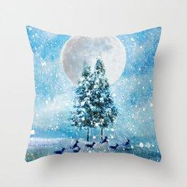 Winter Night 4 Throw Pillow