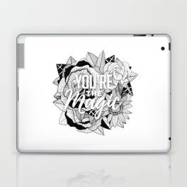 Hand Drawn Floral Typography Illustration Laptop & iPad Skin