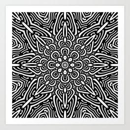 Black & White Mandala 1 Art Print
