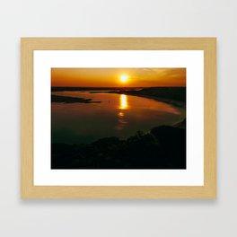 When the sun went down Framed Art Print