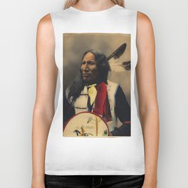 Strikes With Nose, Oglala Sioux Chief 1899 Biker Tank