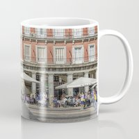real madrid Mugs featuring Relaxing cup, Madrid by Solar Designs