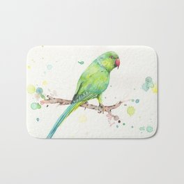 Rose Ringed Parakeet Bath Mat