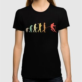 Retro Skiing Evolution Gift For Skiers T-shirt