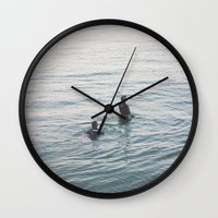 suits Wall Clocks featuring the suits by KNIVESINMYEYES