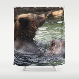 A Great Day to Play in the Water with a LOG Shower Curtain