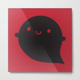 Evil Twin Black Ghost - Kawaii Halloween Metal Print