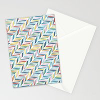 Herringbone Color Stationery Cards