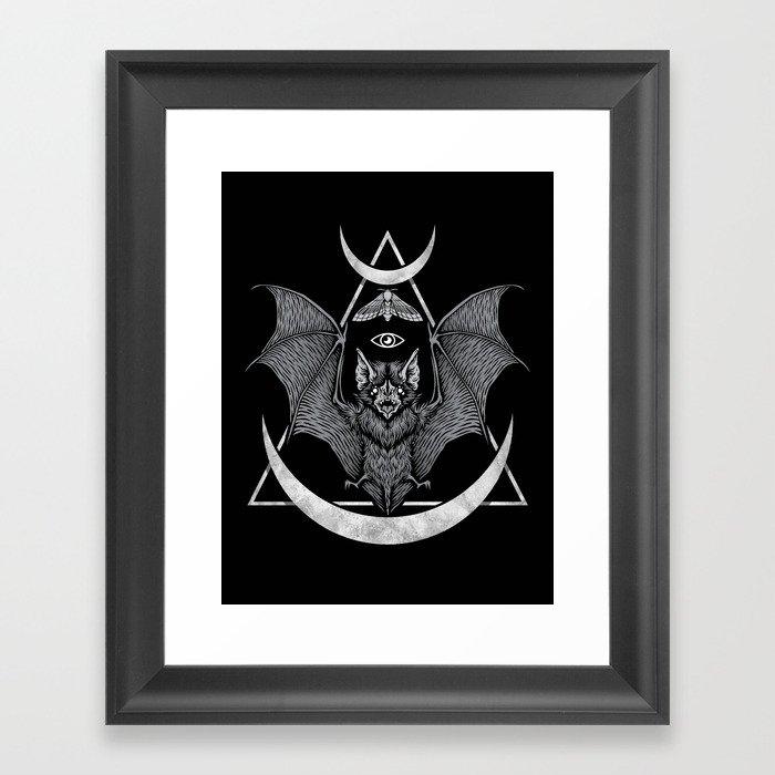Occult Bat Gerahmter Kunstdruck