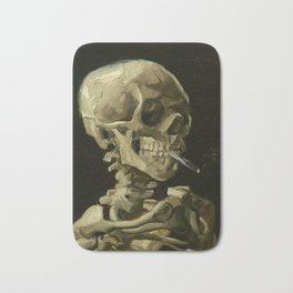 Head of a skeleton with a burning cigarette by Vincent van Gogh Bath Mat