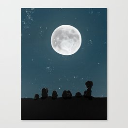 Watching the Moon, (The Unexpected Adventures: Moon Day) Canvas Print