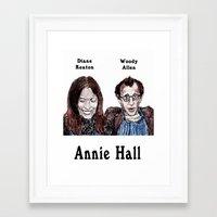 annie hall Framed Art Prints featuring Annie Hall by AdrockHoward