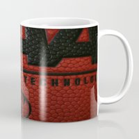 basketball Mugs featuring Basketball by Danielle Podeszek