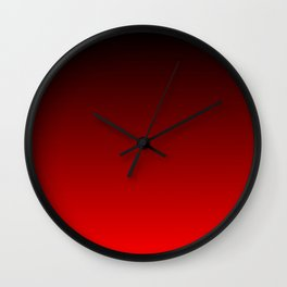 Black and Scarlet Gradient Wall Clock