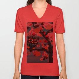 :: Gemmy Owl Loves Jewel Trees :: Unisex V-Neck