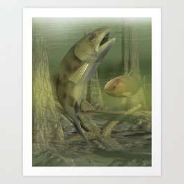 Backyard Fishing Art Print