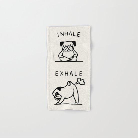 Inhale Exhale Pug Hand & Bath Towel