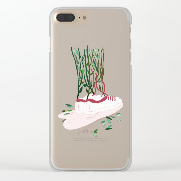 Shoes and Branches Clear iPhone Case
