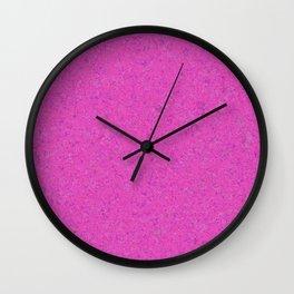 Magenta Abstract Watercolor Wall Clock