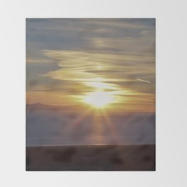 California Sunset Throw Blanket