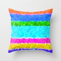 miami Throw Pillows featuring Miami by Saundra Myles
