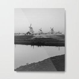 Netherlands Dutch Windmill Metal Print