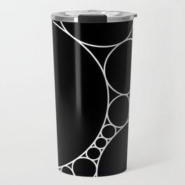 Geometric Abstract - Circles (White) Travel Mug