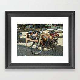 Moped Siesta  Framed Art Print