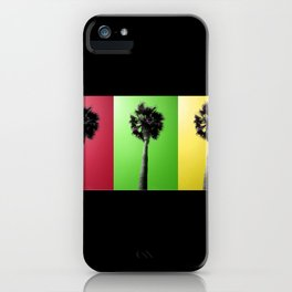 Palm Trees Rasta iPhone Case
