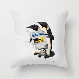 Read All Over (Wordless) Throw Pillow