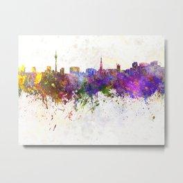 Dusseldorf skyline in watercolor background Metal Print