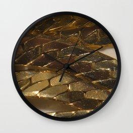 gold? chain Wall Clock