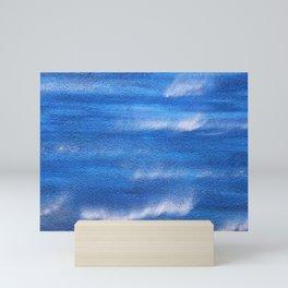 Shades of blue Mini Art Print