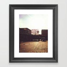 Pike Place Market @ Seattle, Washington Framed Art Print