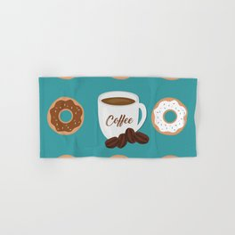 Coffee and Donuts Hand & Bath Towel