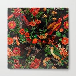 Vintage & Shabby Chic - Midnight Tropical Garden II Metal Print