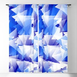 triangles in shades of blue Blackout Curtain