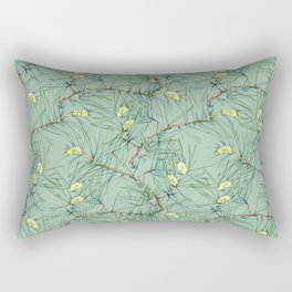 Pattern of pine branches and needles Rectangular Pillow