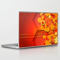 hexagon Laptop & iPad Skins featuring Hexagon Layers by Robin Curtiss