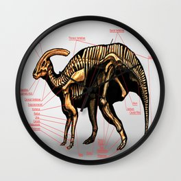 Parasaurolophus Skeleton Study Wall Clock