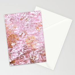 Abstract Autumn In Gold-Rosé Stationery Cards