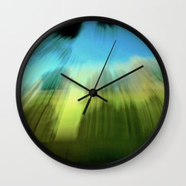 Abstract Victoria Park Costa Mesa CA Wall Clock