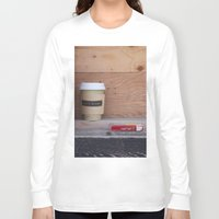 cigarettes Long Sleeve T-shirts featuring Cigarettes and coffee by RMK Photography