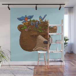 Mr Bear's Nature Hat 2017 Wall Mural