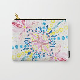 Floral Mosaic Carry-All Pouch