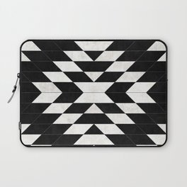 Urban Tribal Pattern No.14 - Aztec - Black Concrete Laptop Sleeve