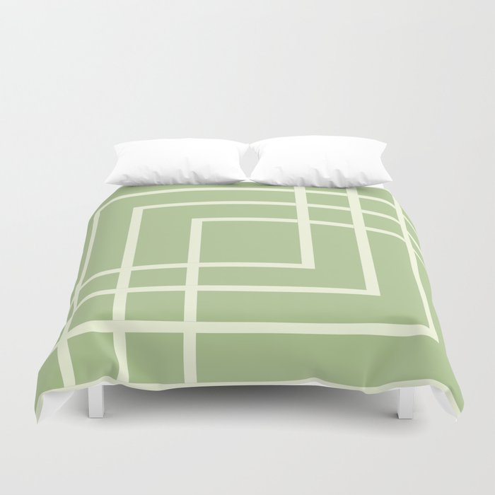 Square - green Duvet Cover
