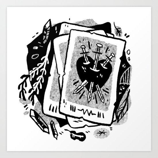 Tarot talk Art Print